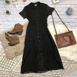 100% Silk Button Down Dress